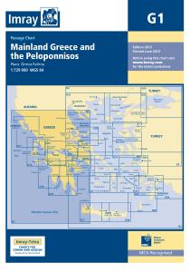 Imray G Chart - Mainland Greece & Peloponnisos (G1 )