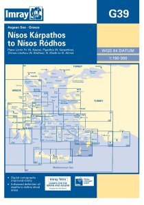 Imray G Chart - Karpathos To Rhodos (G39)