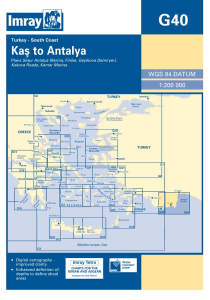 Imray G Chart - Kas To Antalya (G40)