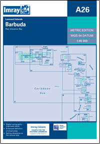 Imray A Chart - Barbuda (A26)