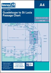 Imray A Chart - Guadeloupe To St Lucia (A4 )