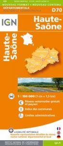 IGN Departmental - Haute-Saone - Vosges - Territoire De Belfort - D70-88-90