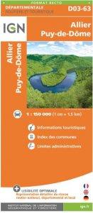 IGN Departmental - Allier - Puy-de-Dome D03-63