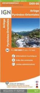 IGN Departmental - Ariege - Pyrenees Orientales - D09-66