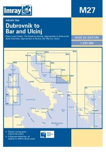 Imray M Chart - Dubrovnik To Bar & Ulcinj (M27)