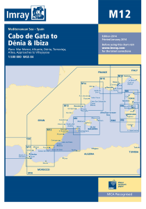 Imray M Chart - Coasta Blanca, Cabo De Gata To Denia & Ibiza (M12)
