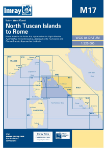 Imray M Chart - North Tuscan Islands To Rome (M17)