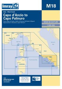 Imray M Chart - Capo D'Anzio To Capo Palinuro (M18)