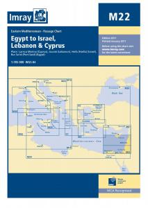 Imray M Chart - Cyprus To Suez (M22)