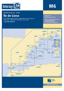 Imray M Chart - Corsica (M6 )