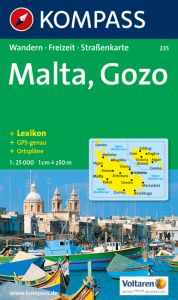 Kompass Maps - Malta & Gozo 235 GPS