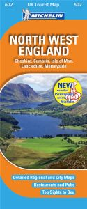 Michelin UK Tourist Map - 602-North West England