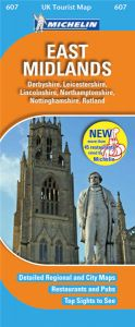 Michelin UK Tourist Map - 607 - East Midlands
