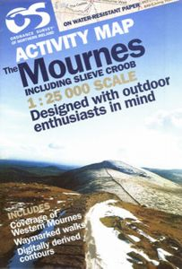 OS Northern Ireland Activity Map - The Mournes Including Slieve Croob