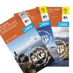 OS Explorer Active Map Set - National Three Peaks Challenge