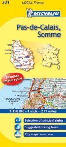 Michelin Local Map - 301-Pas-de-Calais, Somme