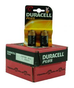 Duracell Plus Power Batteries - C - Box Of 10 Packets (13)