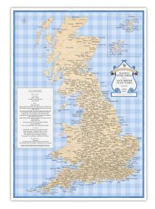 ST&G's Slightly Overcooked Map of Tasty British Place Names (A3)