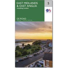 OS Road Map - 5 - East Midlands & East Anglia