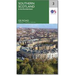 OS Road Map - 3 - Southern Scotland & Northumberland