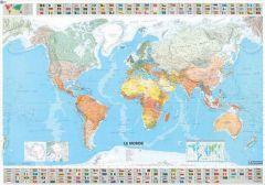 Michelin World Wall Map - Laminated