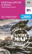 OS Landranger Active - 99 - Northallerton & Ripon, Pateley