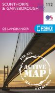 OS Landranger Active - 112 - Scunthorpe & Gainsborough
