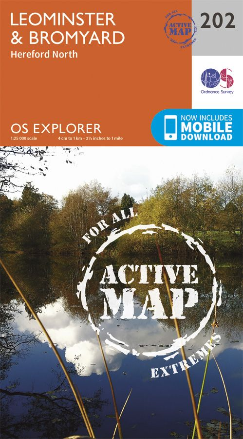 Ordnance Survey Explorer 201 Knighton /& Presteigne Map With Digital Version